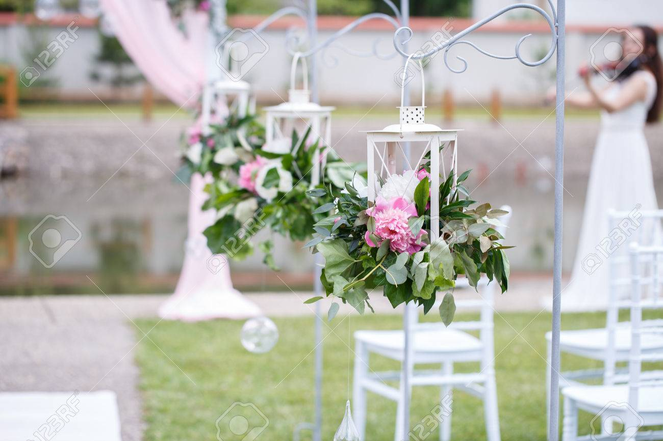 Romantic and delicate decoration for wedding marriage ceremony romantic and delicate decoration for wedding marriage ceremony in the open air stock photo 82980180 junglespirit Image collections