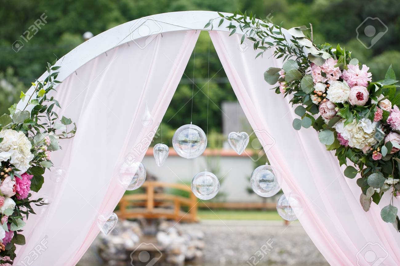 Romantic and delicate decoration for wedding marriage ceremony romantic and delicate decoration for wedding marriage ceremony in the open air stock photo 82982414 junglespirit Image collections
