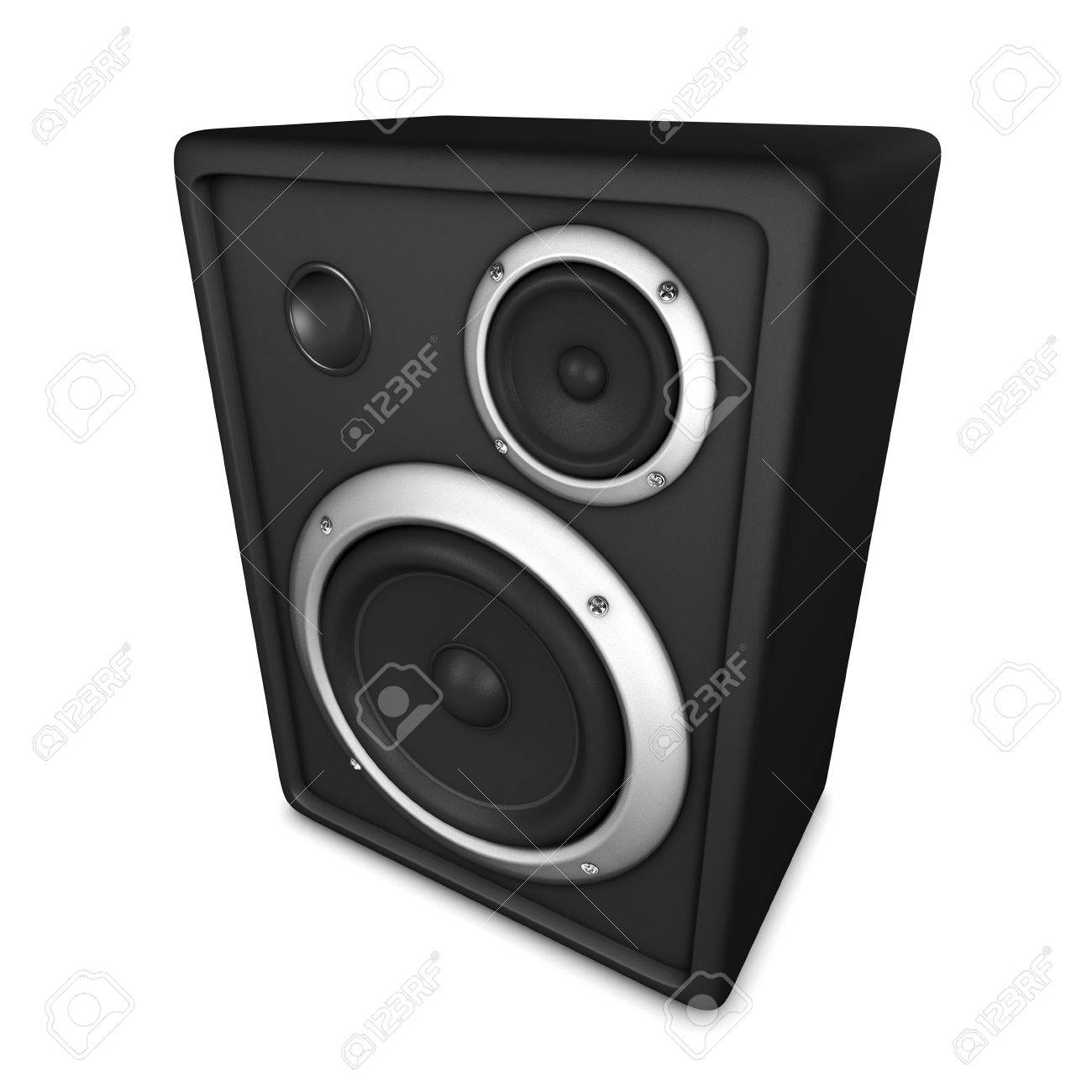 Audio Speaker Box, isolated on white Stock Photo - 22242873
