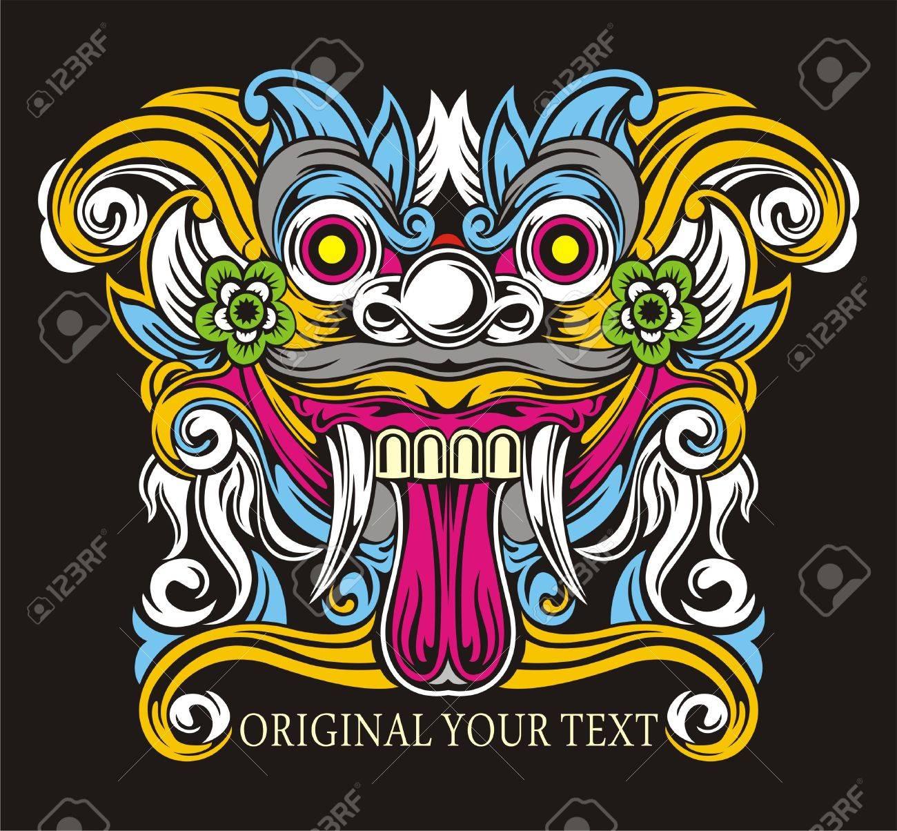 Vector Design Mythology Balinese Barong Royalty Free Cliparts