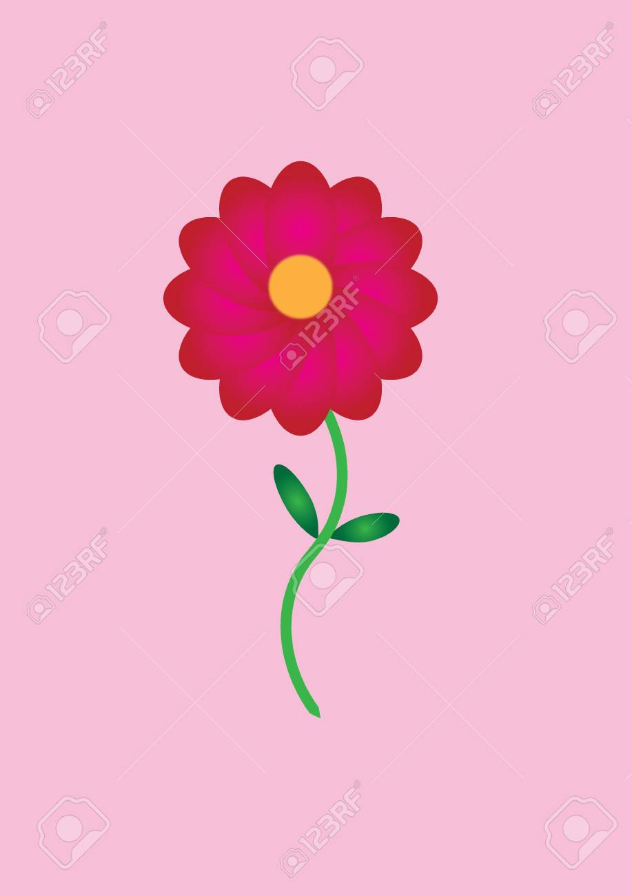 flower in pink color Stock Vector - 17937523