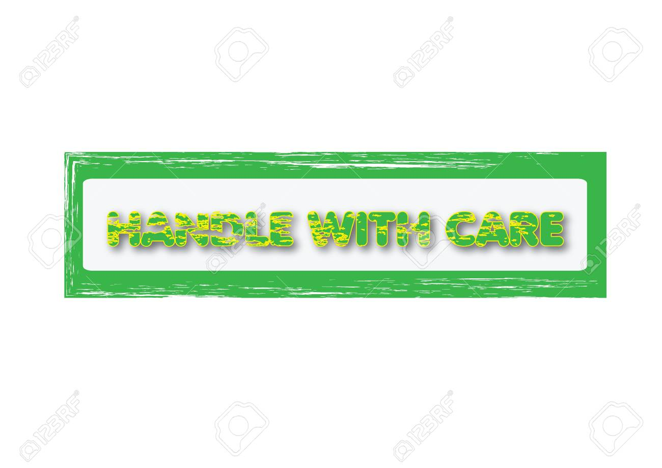 Grunge office stamp with the word handle with care Stock Vector - 20087999