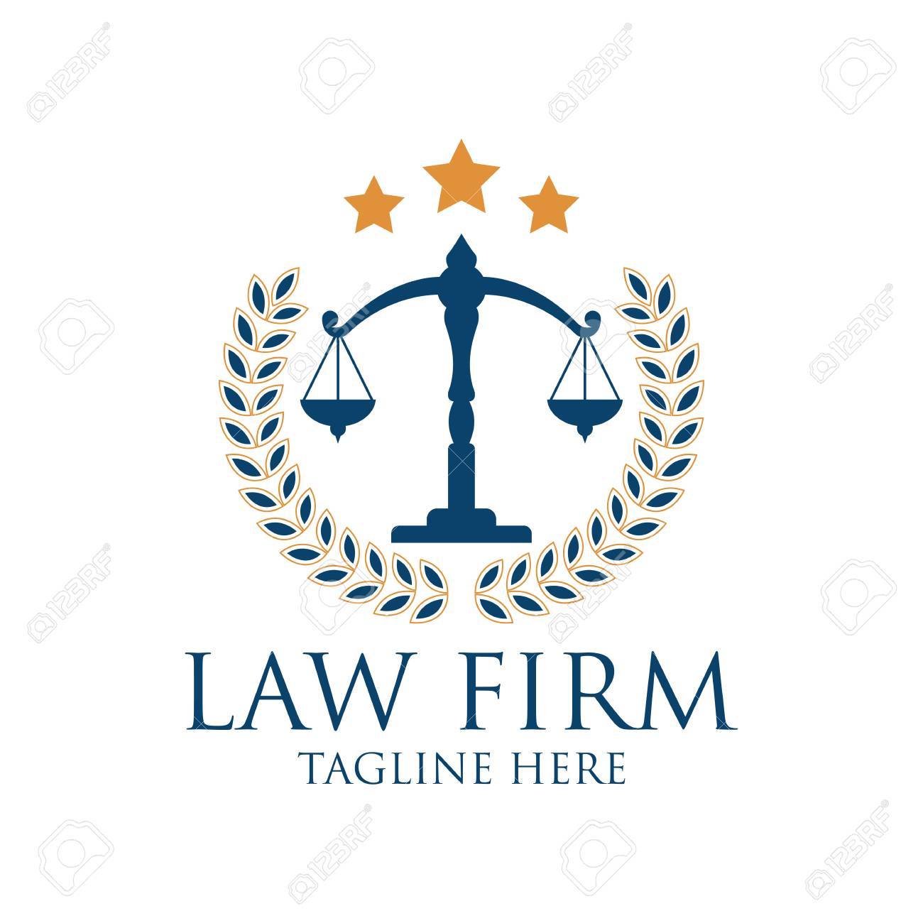 Law firm logo with text space for your slogan / tagline, vector