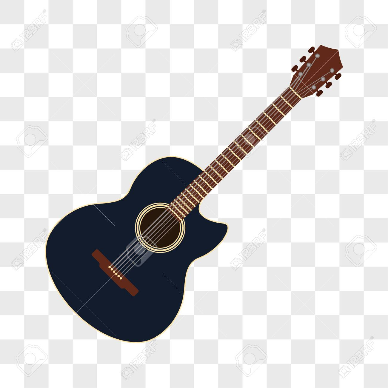 Acoustic Guitar Musical Instruments Isolated On Transparent Background Royalty Free Cliparts Vectors And Stock Illustration Image 124533034
