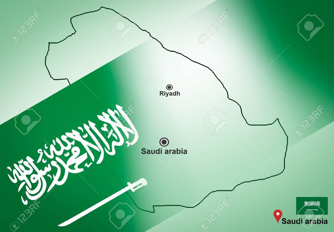 Saudi Arabia Map And Riyadh With Location Map Pin And Saudi Arabia ...