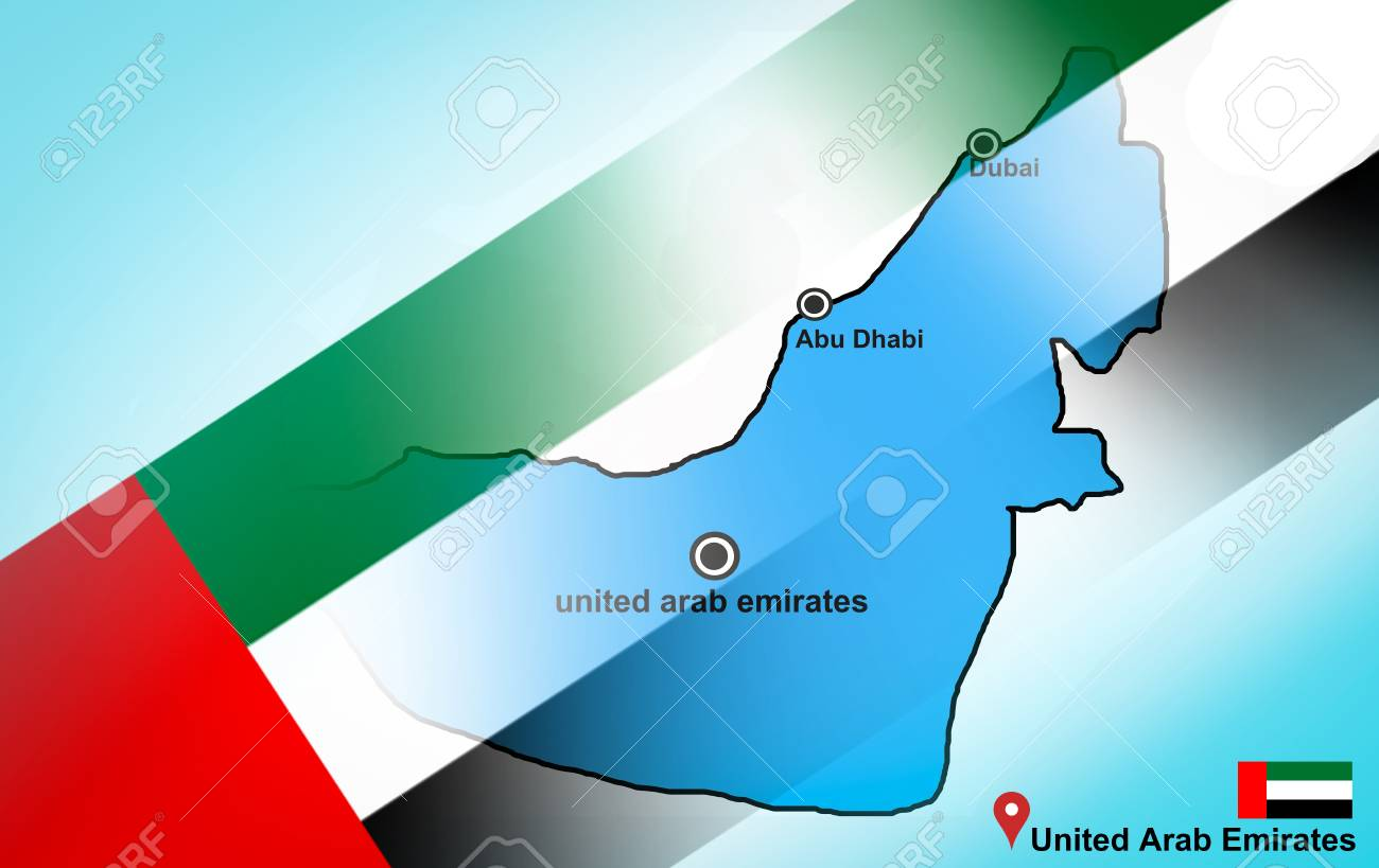 Map Of Asia Dubai.United State Of Arab Emirates Map And Abu Dhabi Dubai With Location