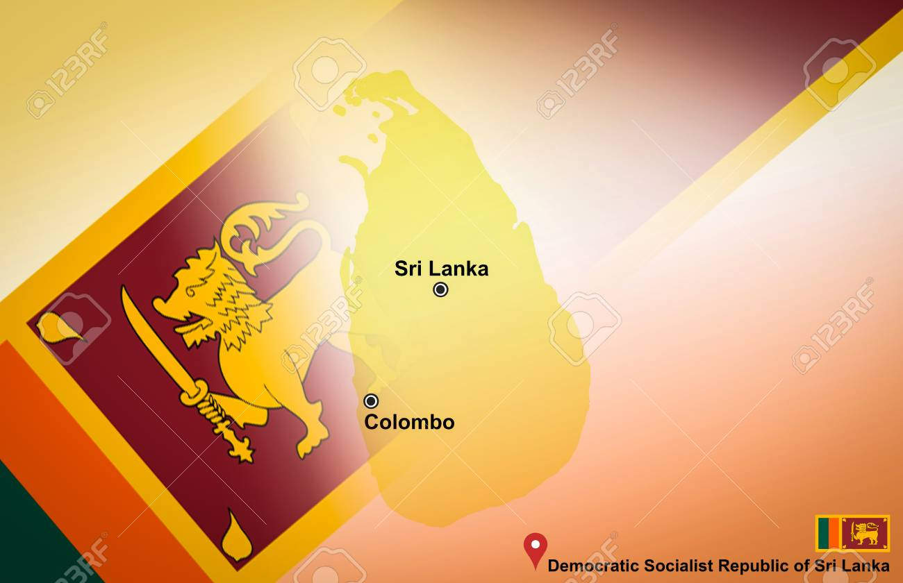 Sri Lanka map and Colombo with location map pin and Sri Lanka..