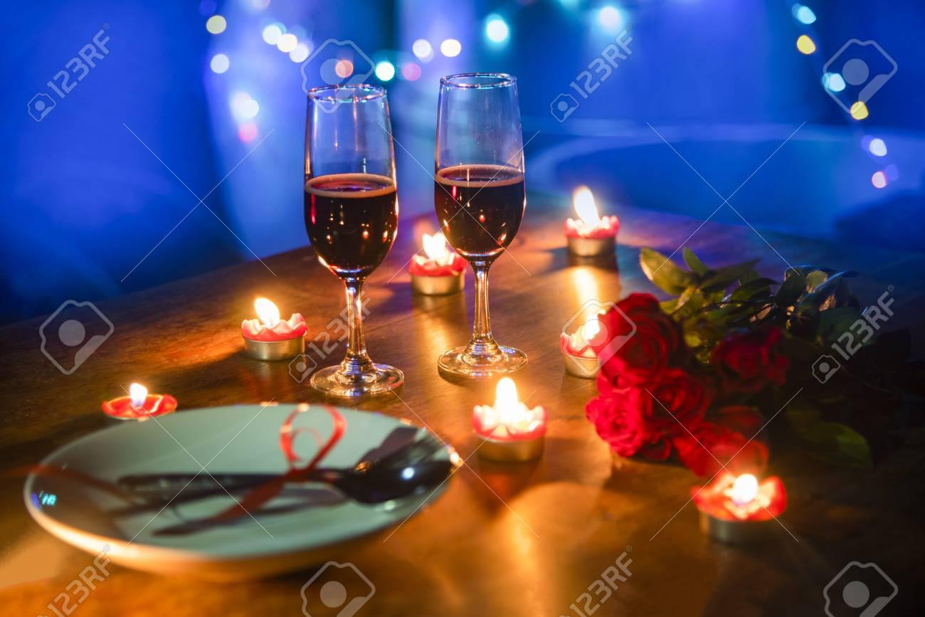 Surprising Valentines Dinner Romantic Love Concept Romantic Table Setting Download Free Architecture Designs Scobabritishbridgeorg