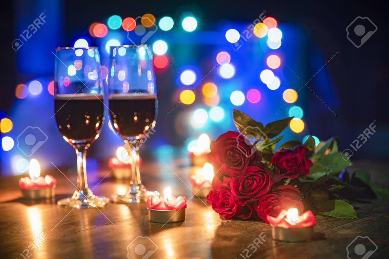 Pleasant Valentines Dinner Romantic Love Concept Romantic Table Setting Download Free Architecture Designs Scobabritishbridgeorg