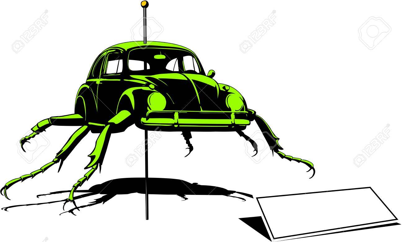 crazy beetle mutation Stock Vector - 17280371