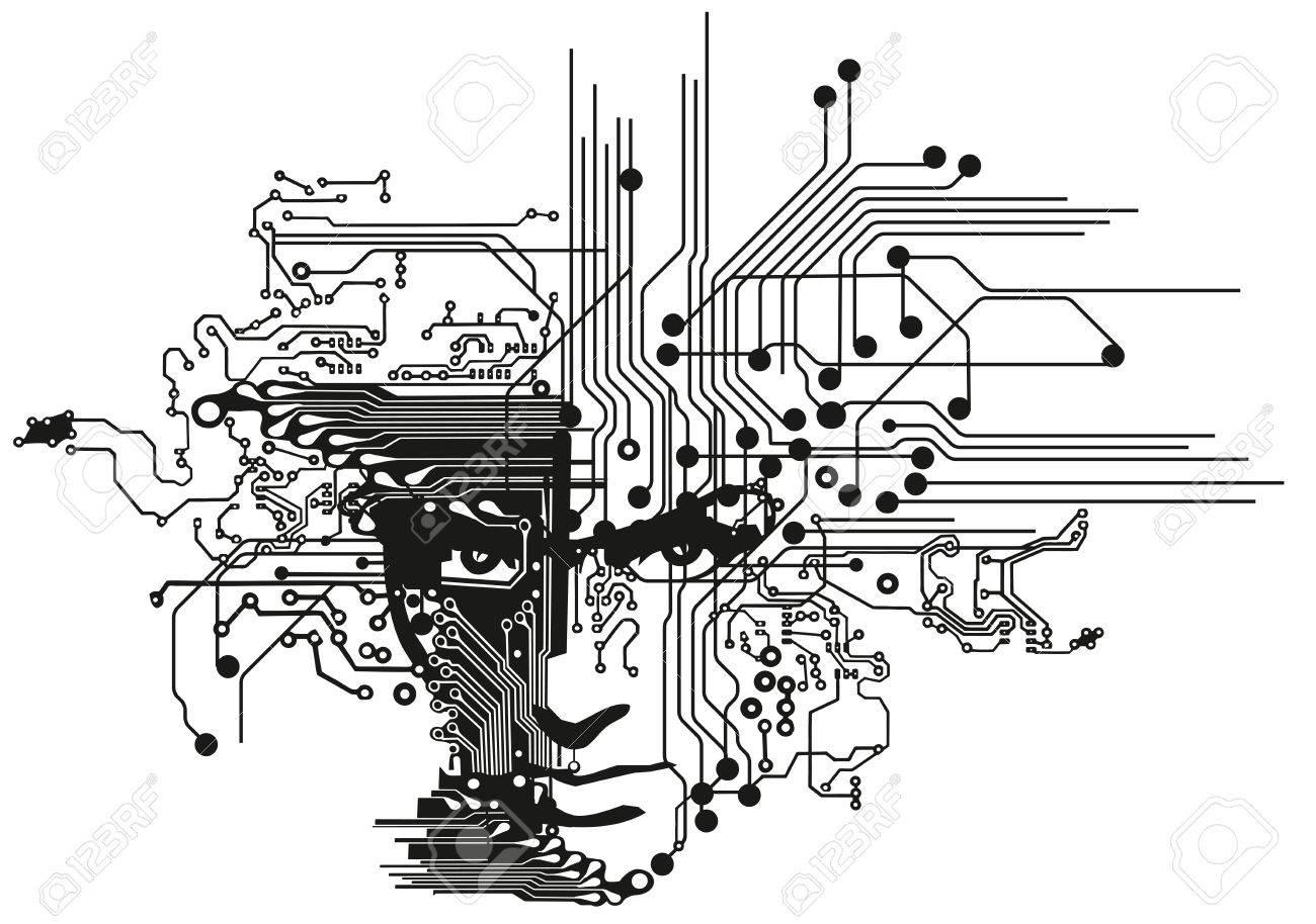 Circuit Board Art Drawing - Enthusiast Wiring Diagrams •