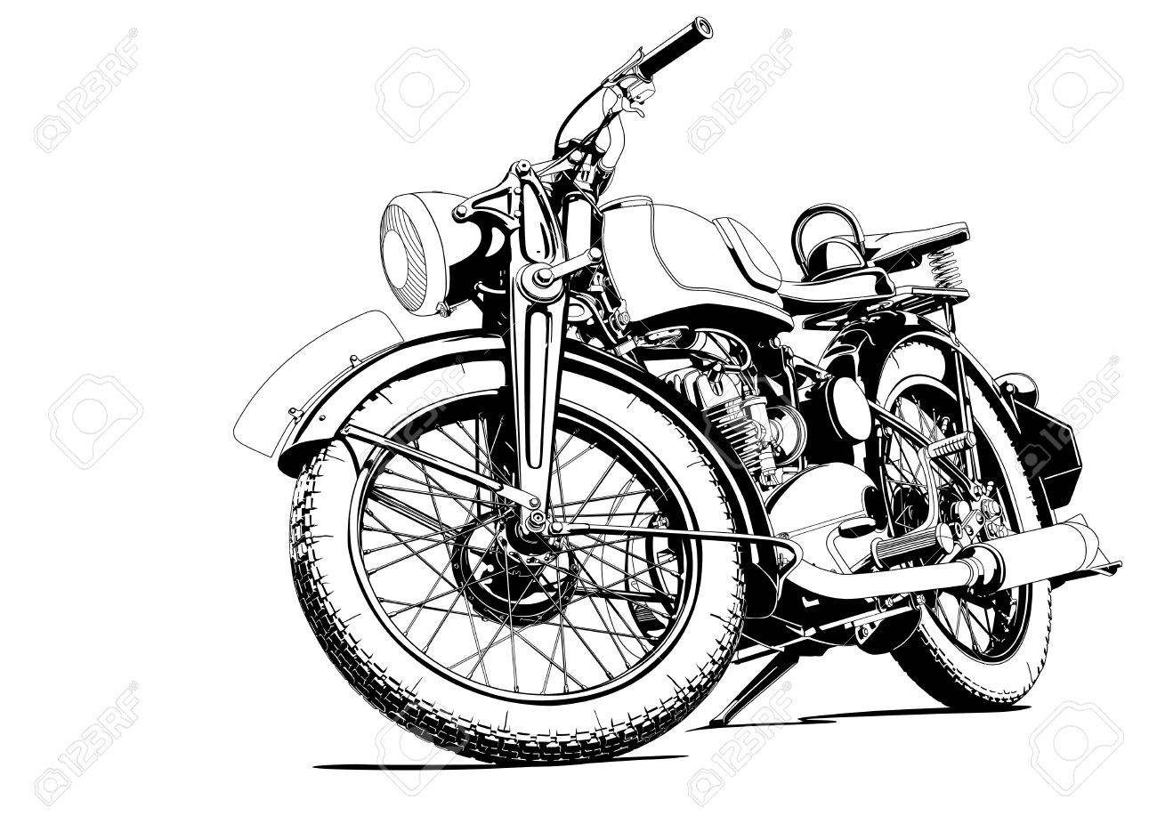 old motorcycle clipart  20,179 Vintage Motorcycle Stock Vector Illustration And Royalty Free ...