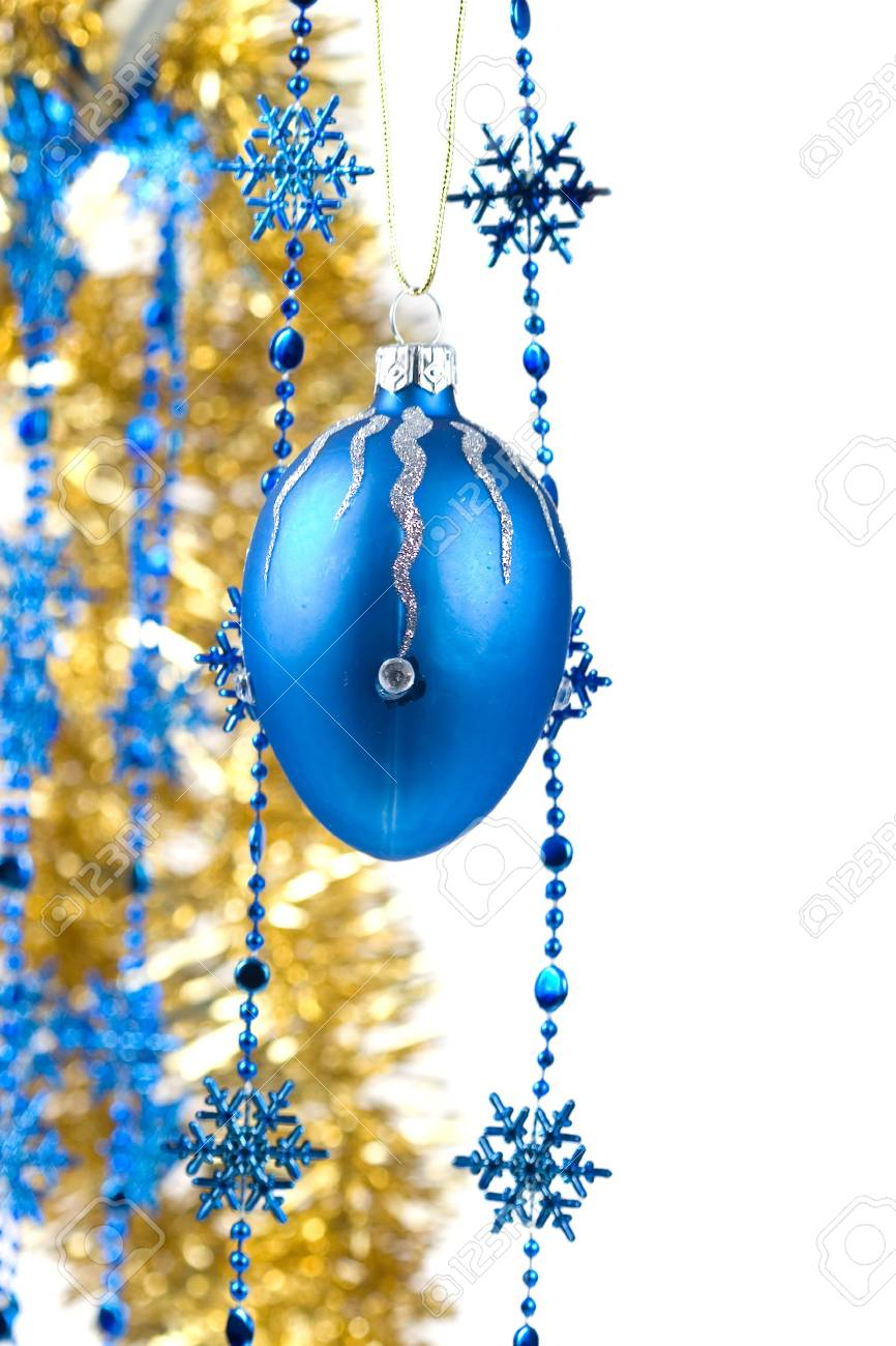 Christmas ornaments isolated on white background Stock Photo - 8184736