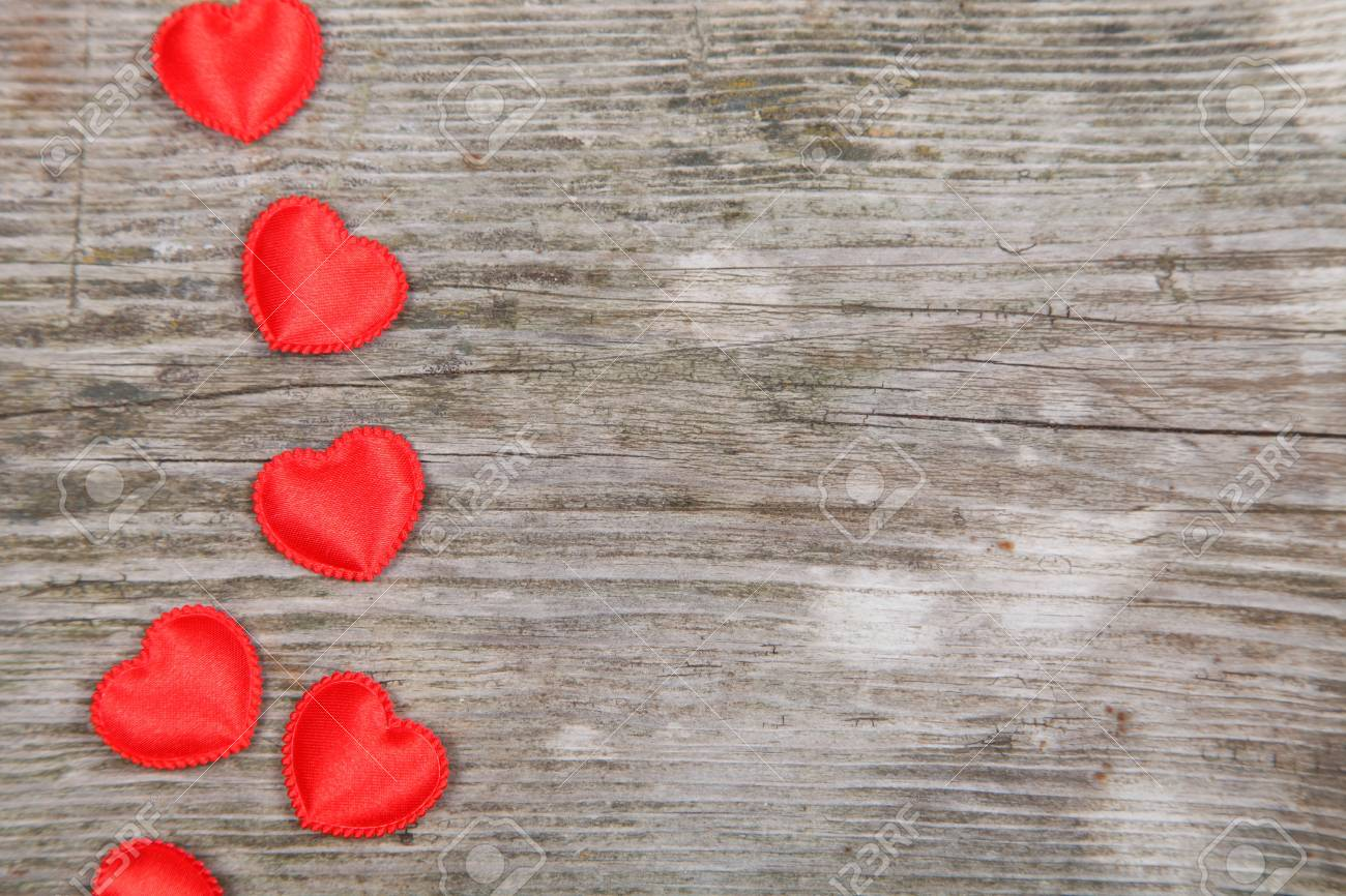Valentines Day background with hearts. Stock Photo - 16920641
