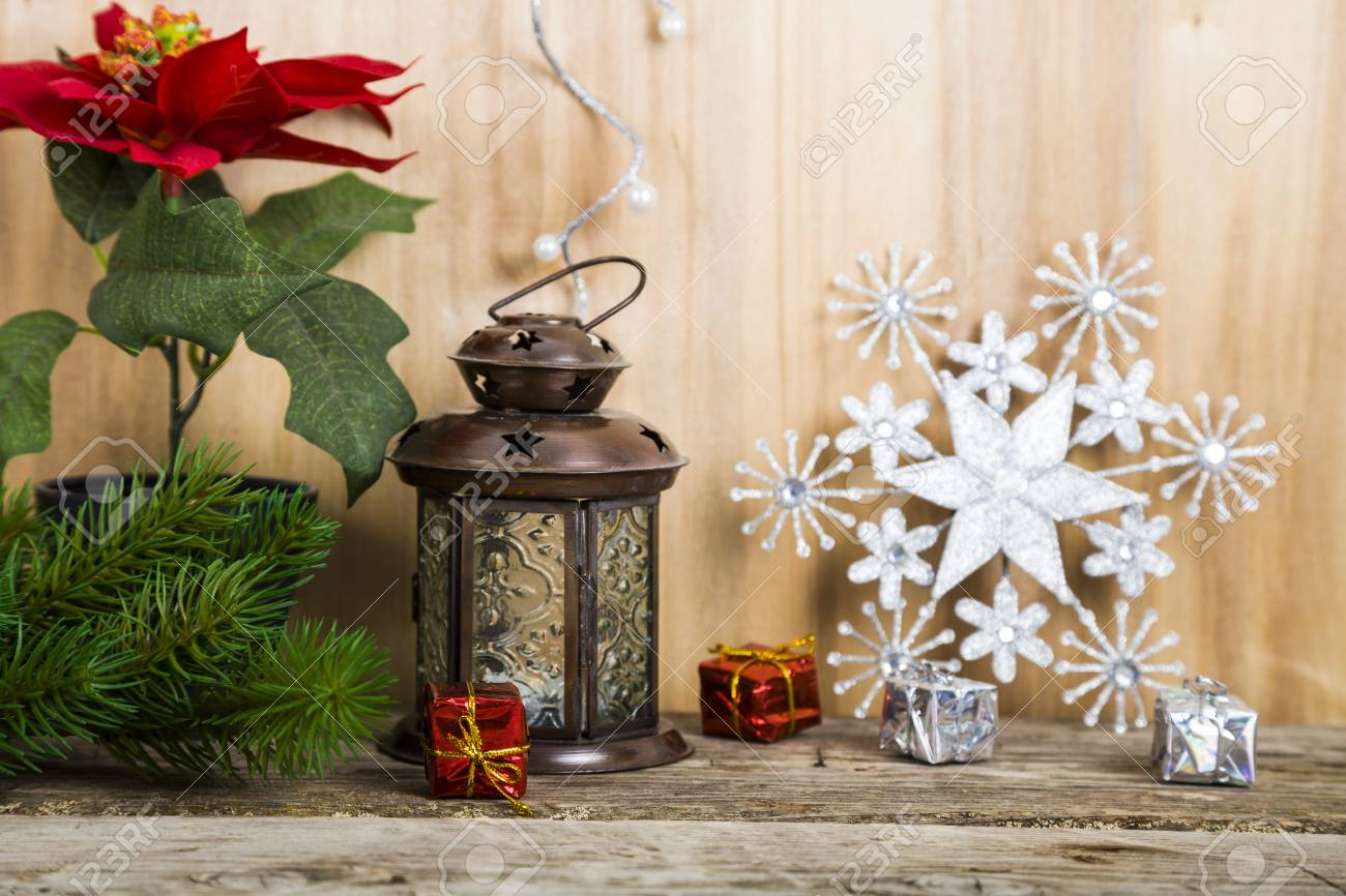 Christmas Decorations On The Wooden Background Christmas Star Stock Photo Picture And Royalty Free Image Image 66150768