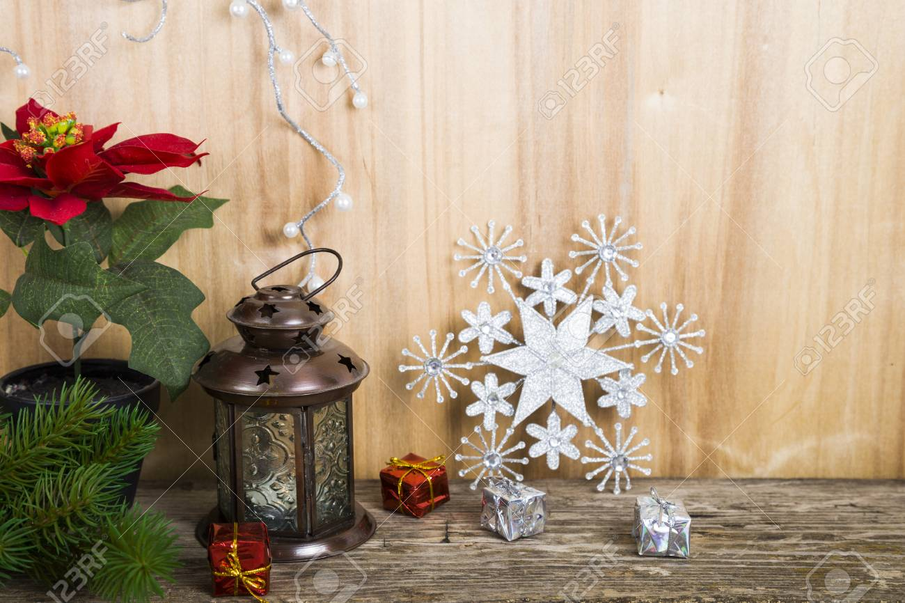 Christmas Decorations On The Wooden Background Christmas Star Stock Photo Picture And Royalty Free Image Image 67628470