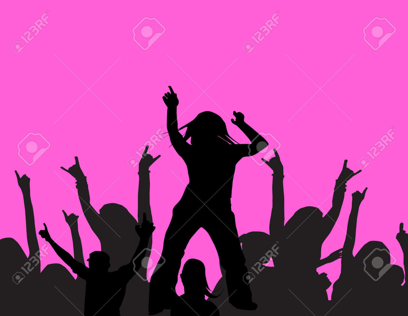 people dansing at a party Stock Photo - 523123