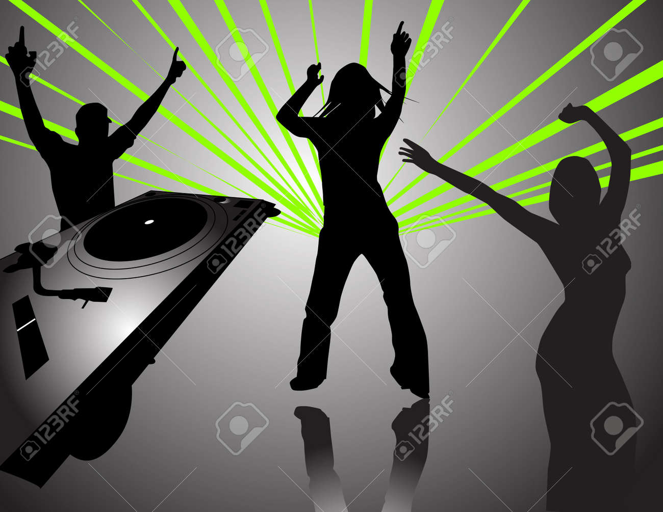 people dansing at a party Stock Photo - 523121