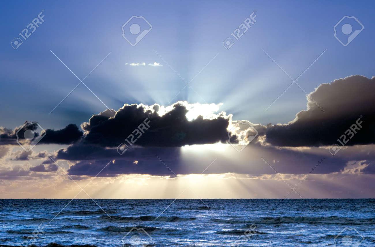 Beautiful sunset on the beach Stock Photo - 719911