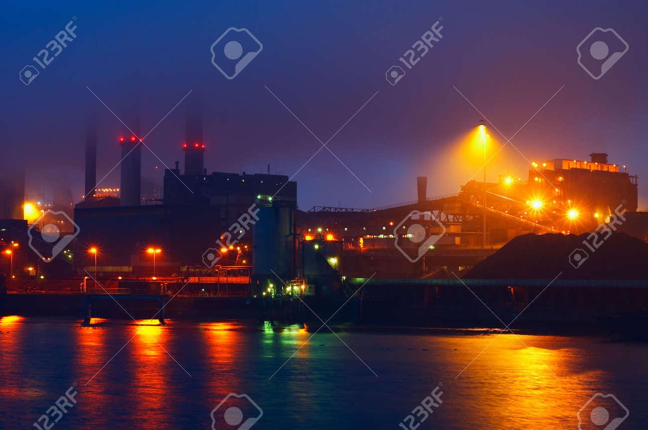 industry on a misty night Stock Photo - 737632
