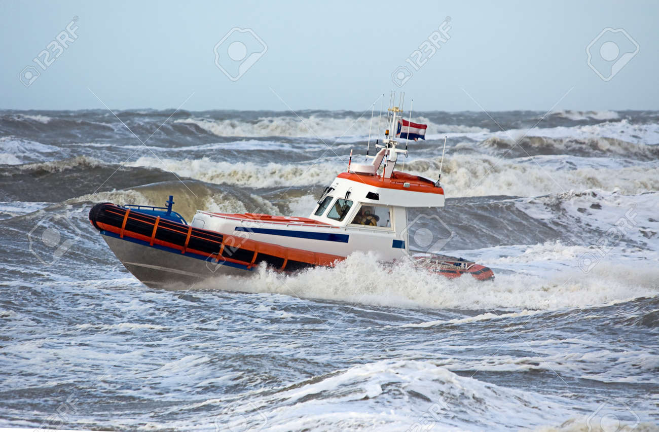 coast guard during storm in ocean Stock Photo - 1404895