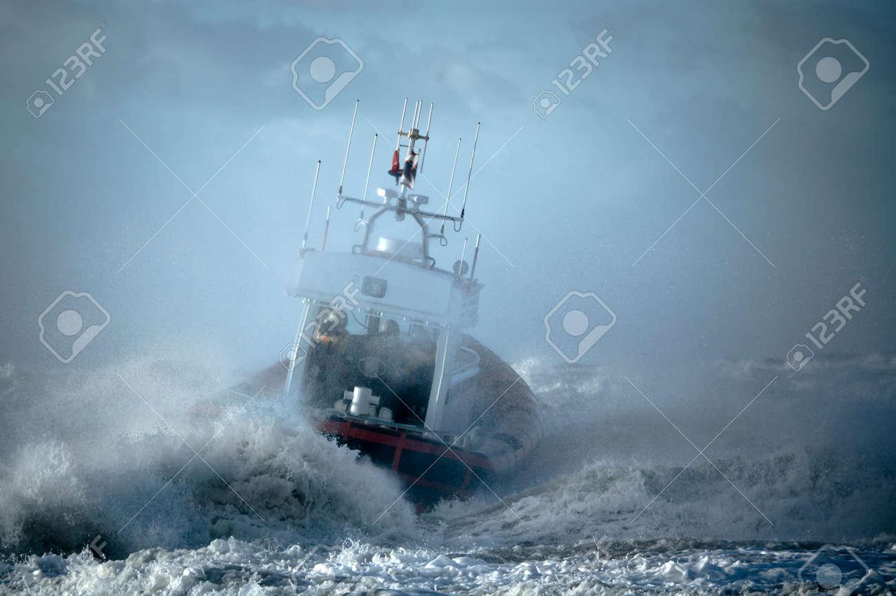 coast guard during storm in ocean - 1404892