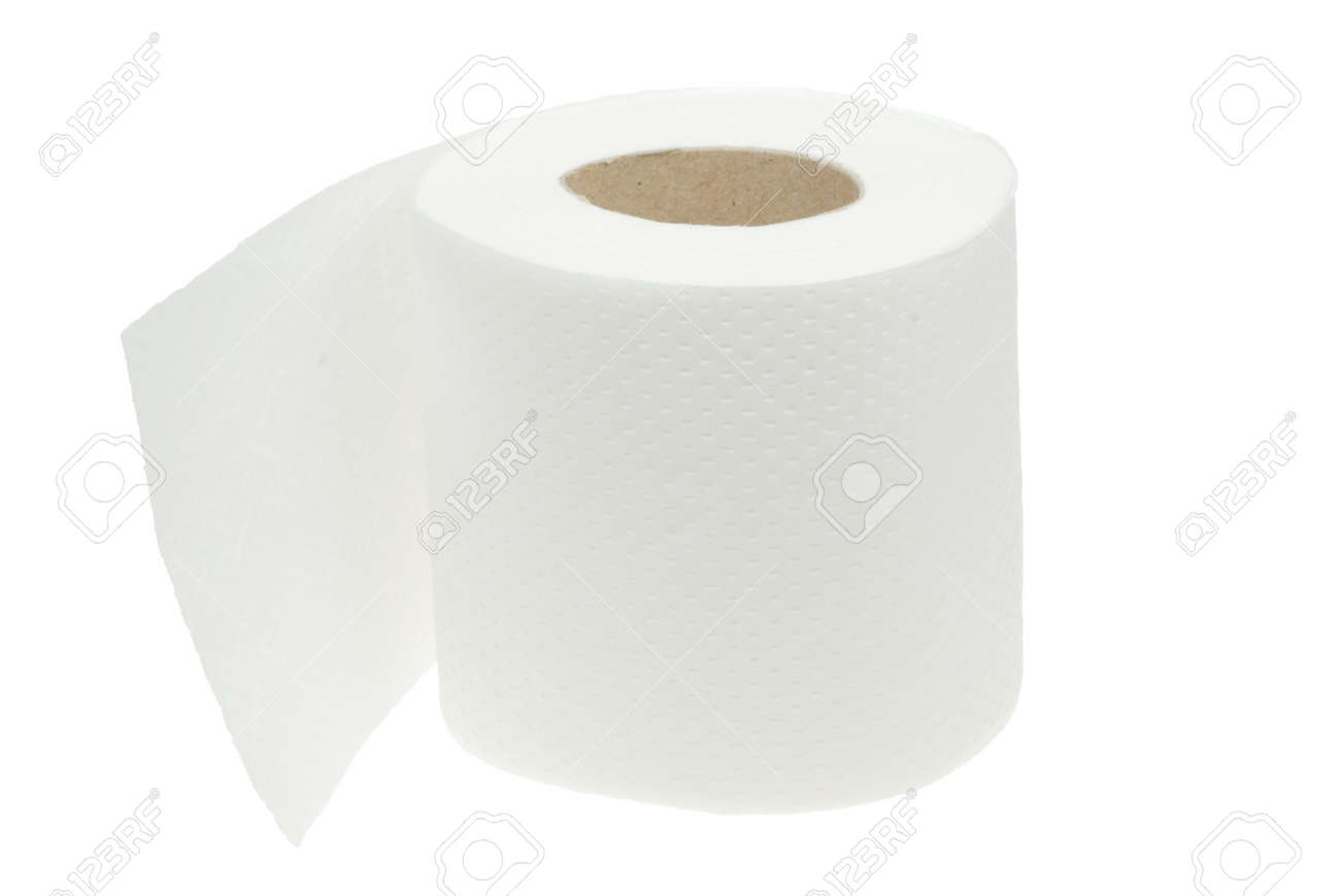 toilet paper isolated on a white background Stock Photo - 3033374