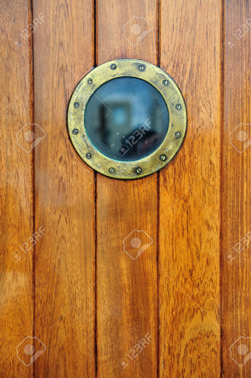 An Antique Doorway With Porthole From A Ship Stock Photo   5467107