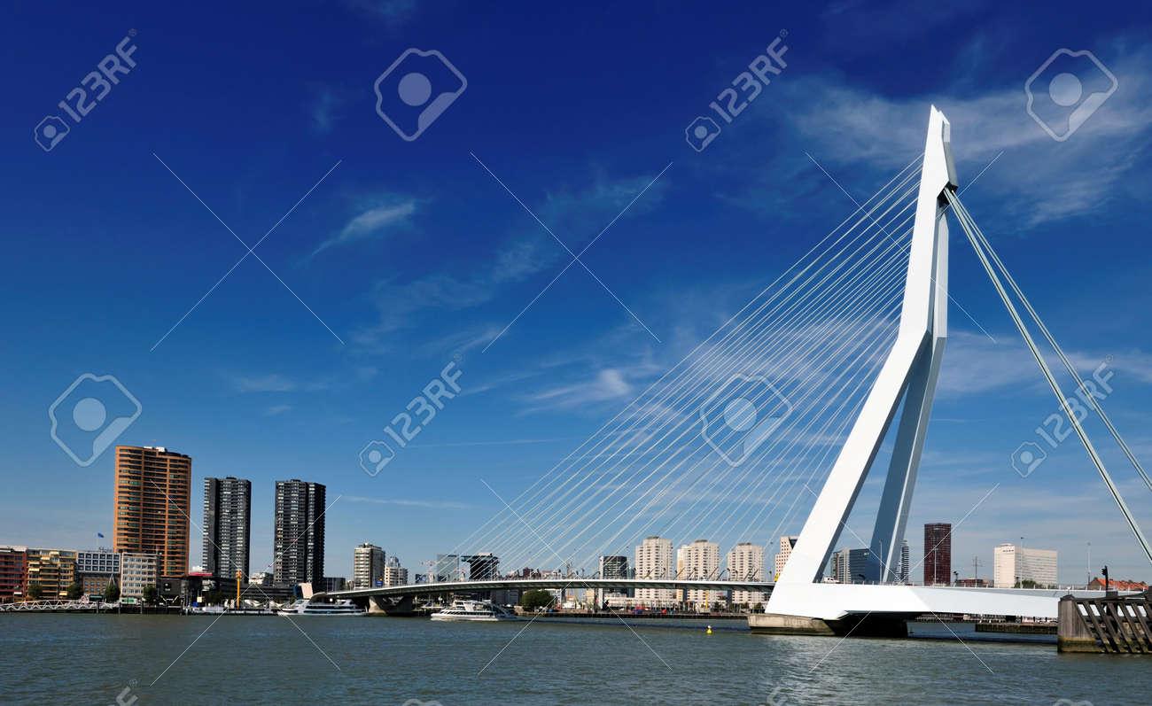 Erasmus bridge in Rotterdam the Netherlands, Europe Standard-Bild - 5522173