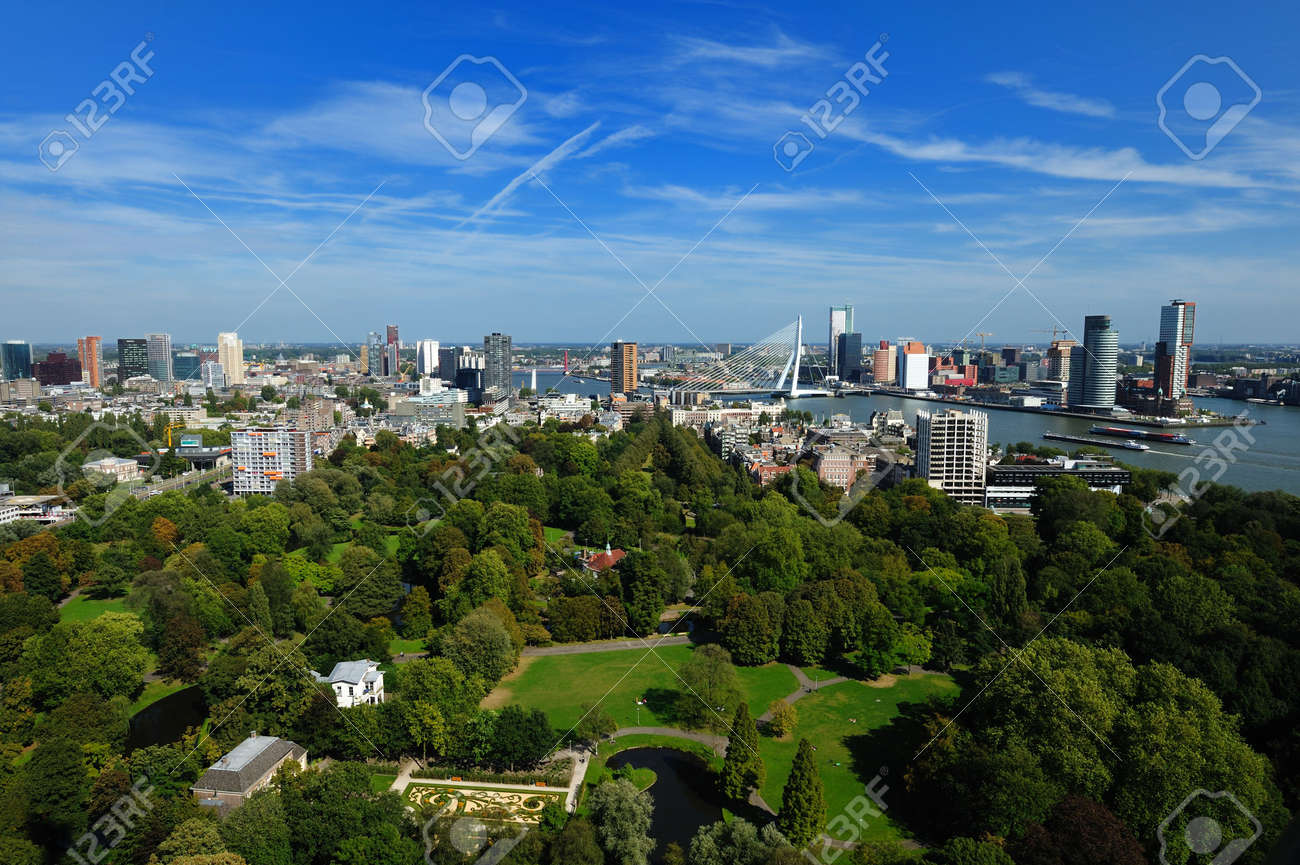 aerial view of  Rotterdam in the Netherlands, Europe Stock Photo - 5522213