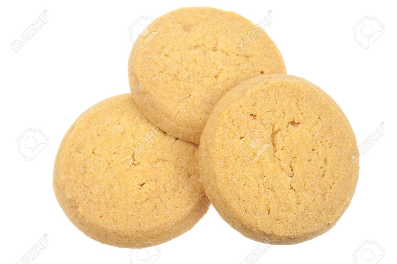 Butter-Cookies, die auf einem weißen Hintergrund isoliert Standard-Bild - 5900514