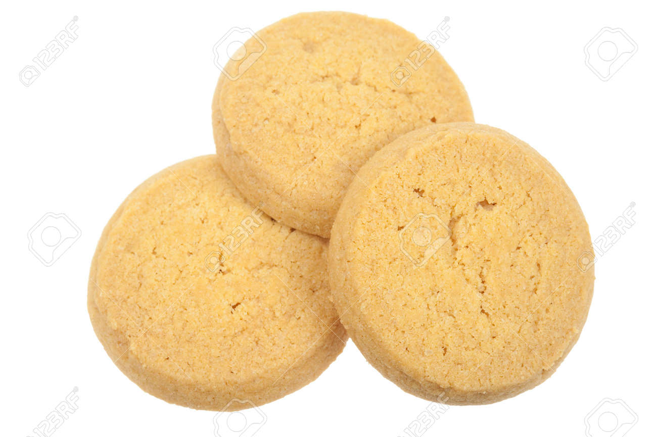 Butter cookies isolated on a white background Standard-Bild - 5900514