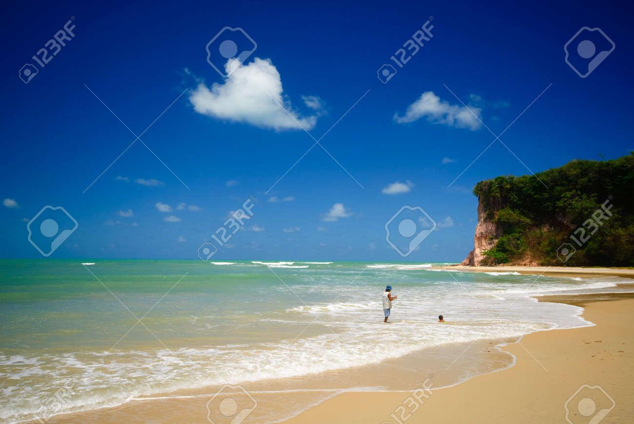 Beautiful beach at Baia dos Golfinhos near pipa Brazil Standard-Bild - 6063936