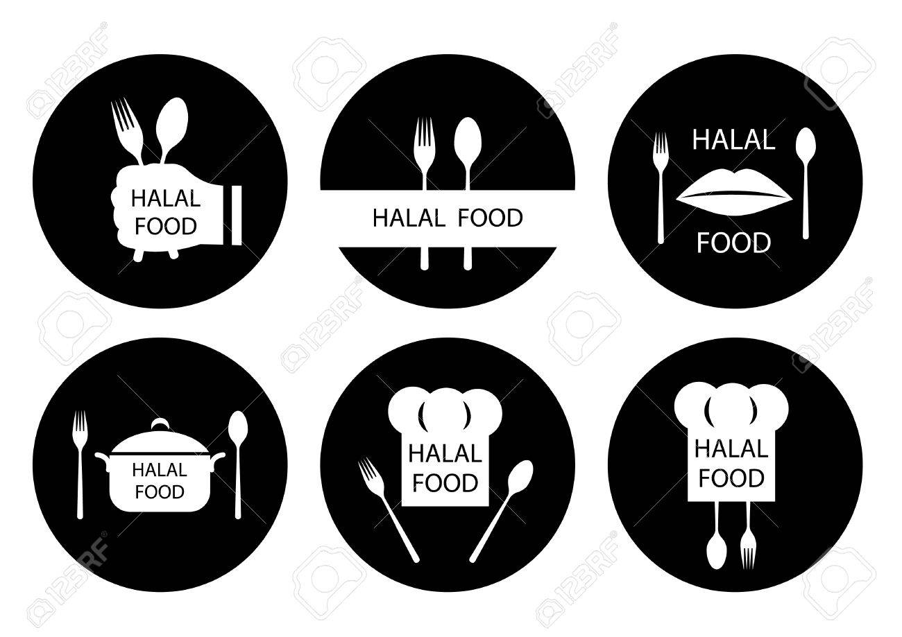 halal food labels set badges logo tag round and label design royalty free cliparts vectors and stock illustration image 78979522 halal food labels set badges logo tag round and label design