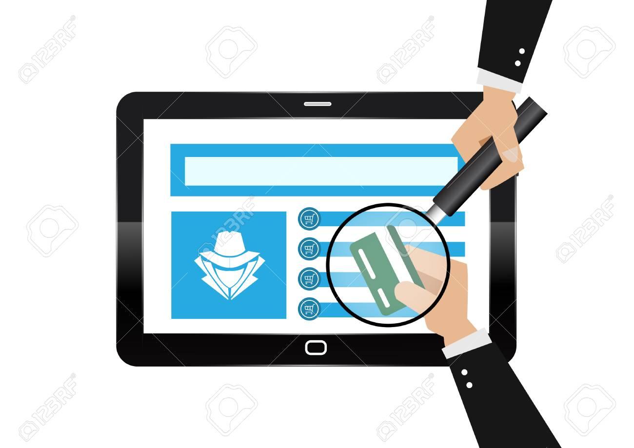 Hacker theft hand holding a credit card fraud with magnifying hacker theft hand holding a credit card fraud with magnifying glass for online paying shop colourmoves