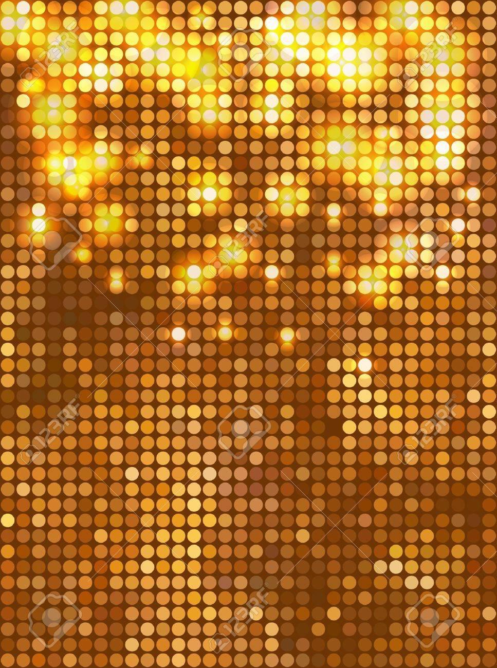 Gold Glitter Vector Vector Vertical Gold Mosaic