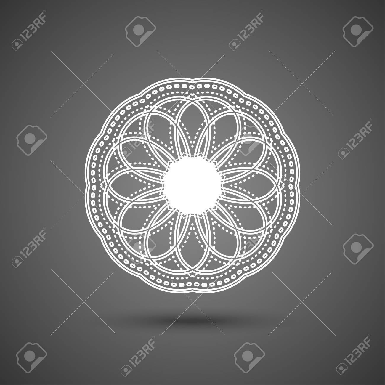 Papier Spitzendeckchen, Mandala, Rund Häkeln Ornament, Vektor ...