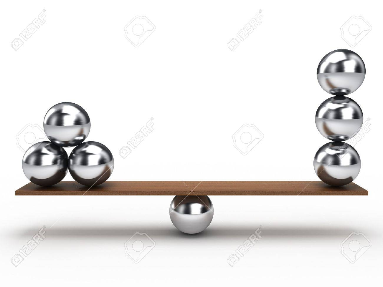 Balancing Balls On Wooden Board Stock Photo   9033681