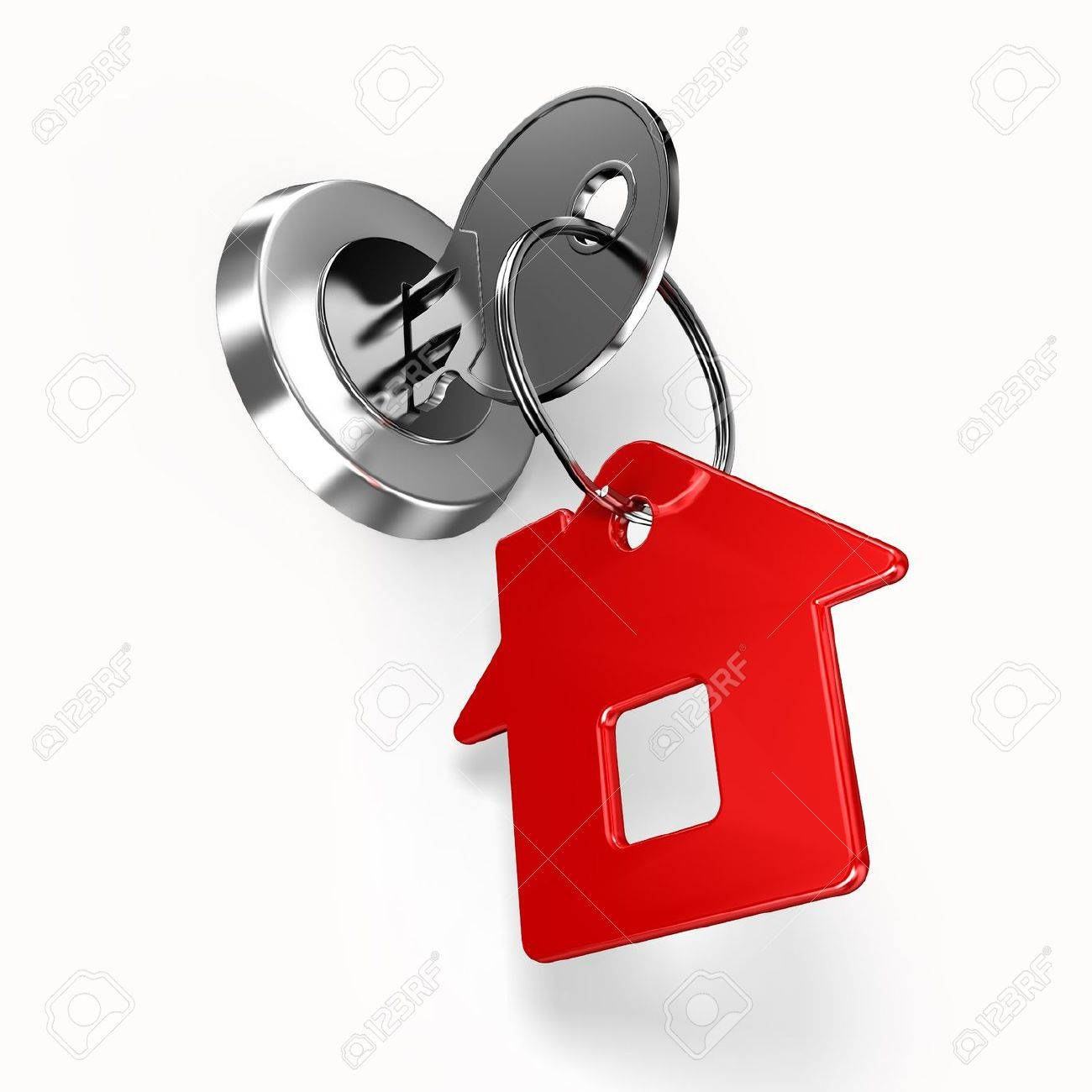 House key with label Stock Photo - 9807951