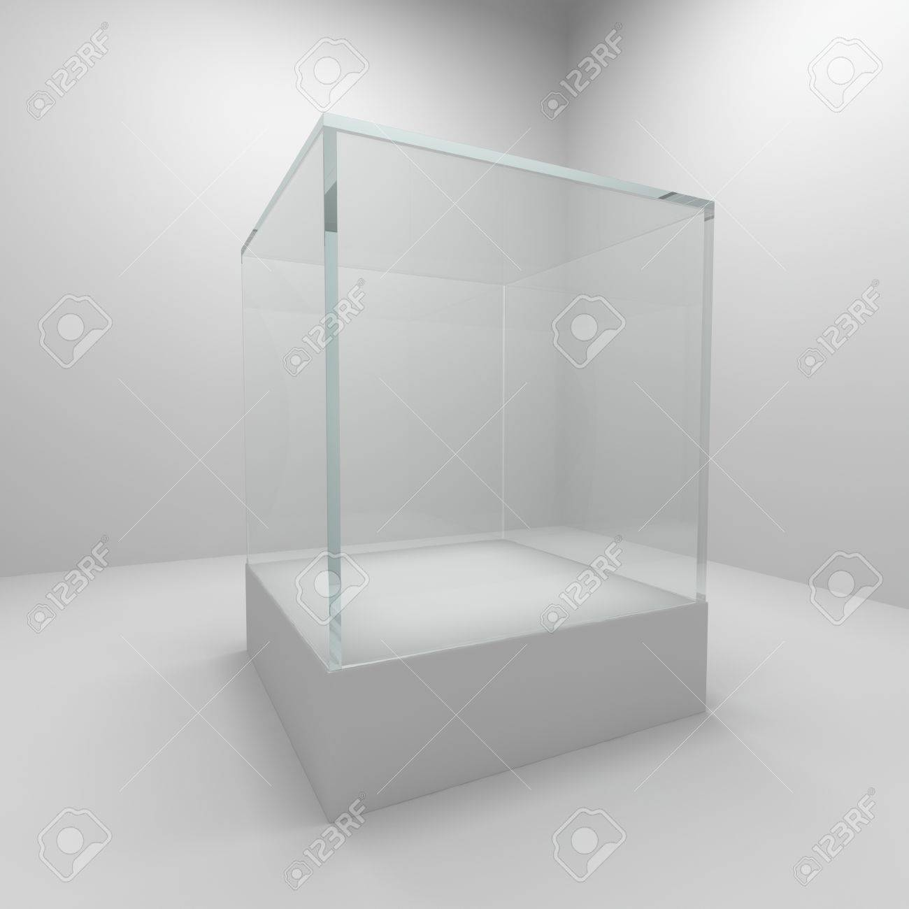 Empty glass showcase in room Stock Photo - 10148230
