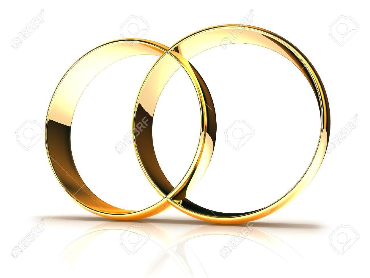 2019 real rechercher le dernier dernière sélection Les anneaux de mariage d'or isolé sur fond blanc