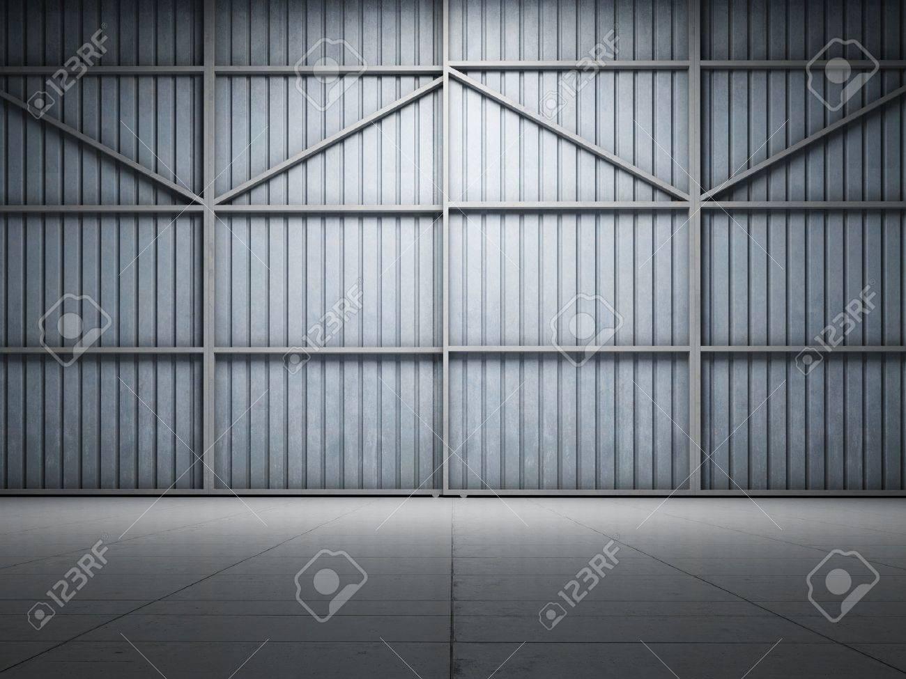 Large warehouse door illuminate spotlight Stock Photo - 11308819 & Large Warehouse Door Illuminate Spotlight Stock Photo Picture And ...