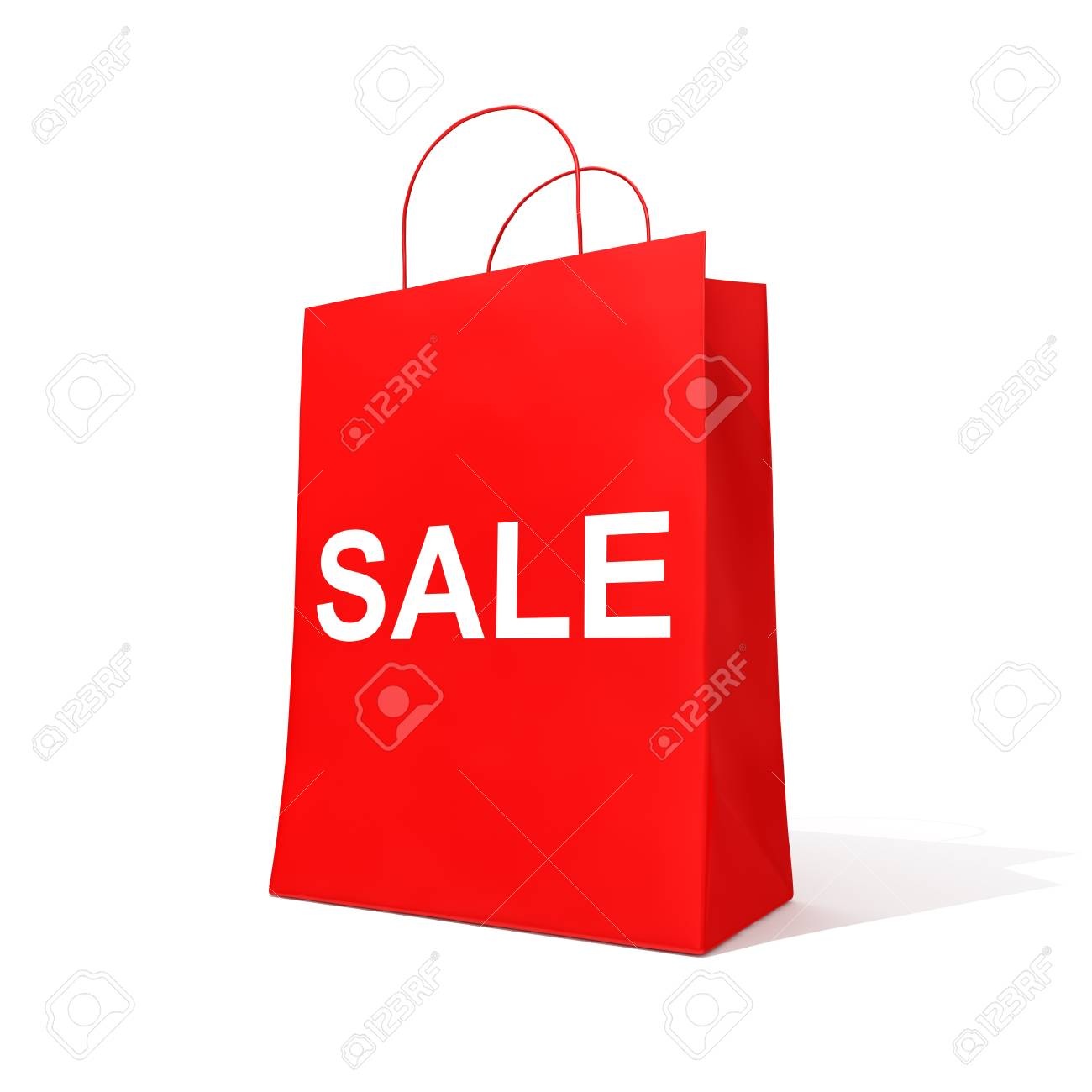 Blank shopping red bag for sale Stock Photo - 12389138