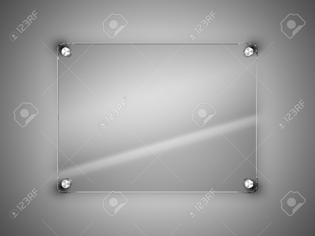 Glass Frame On The Wall Stock Photo, Picture And Royalty Free Image ...