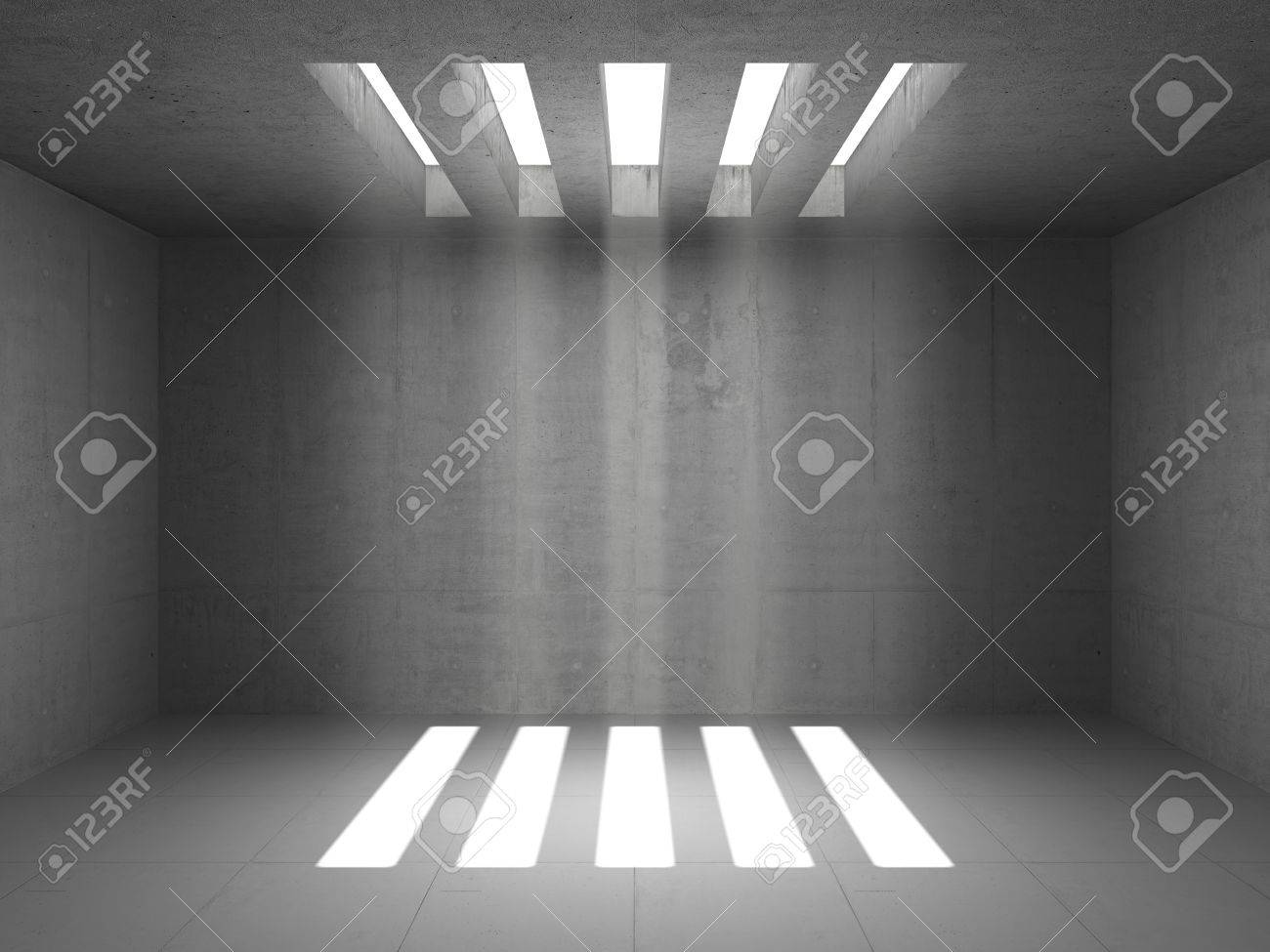 Empty warehouse room with concrete walls Stock Photo - 12389158