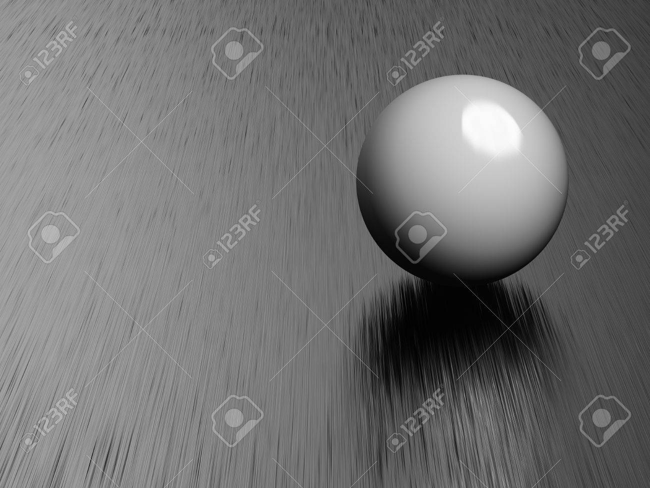 Metal ball on brushed steel plate Stock Photo - 12389160