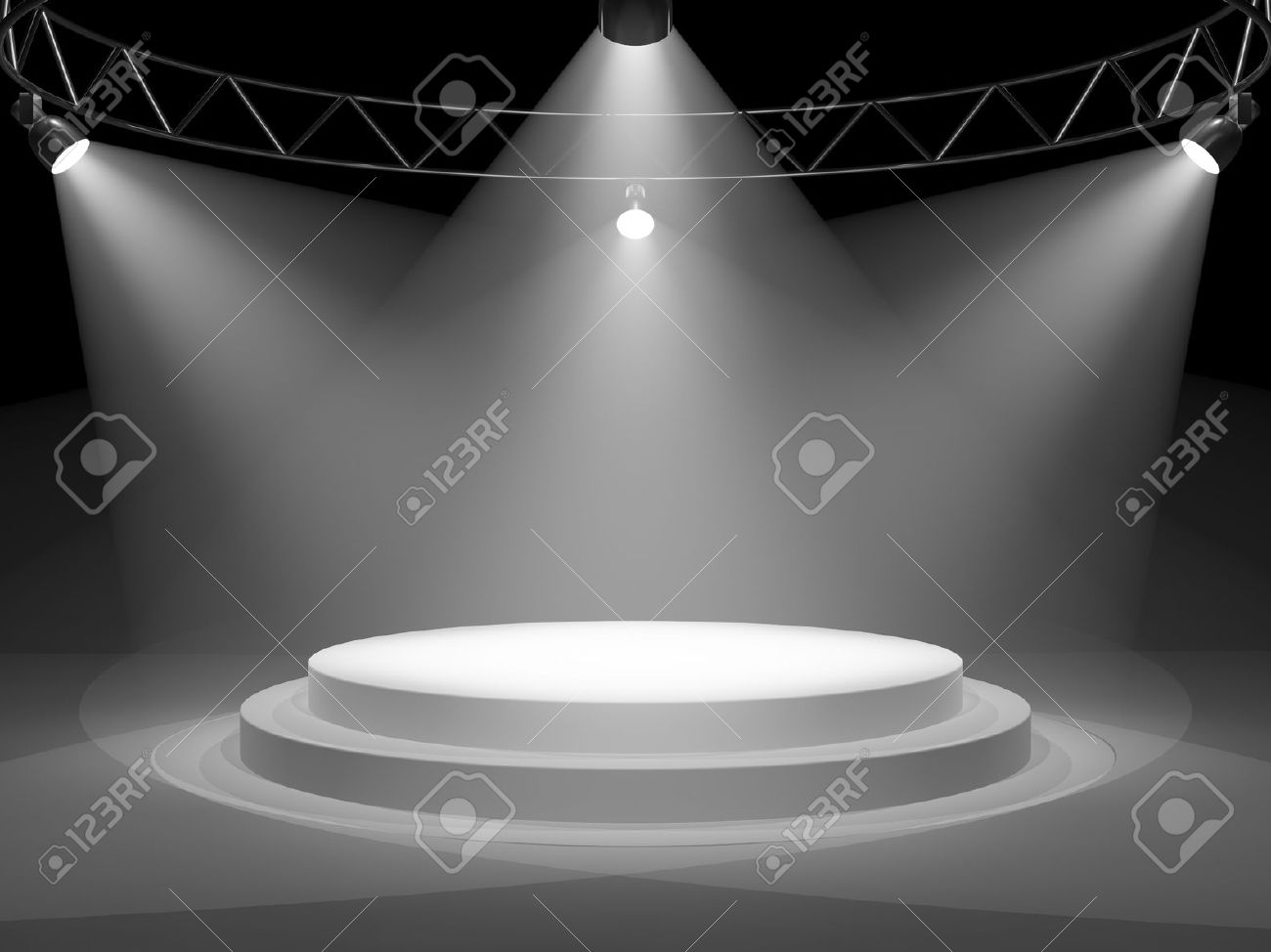 Empty stage in spot lights - 12878768