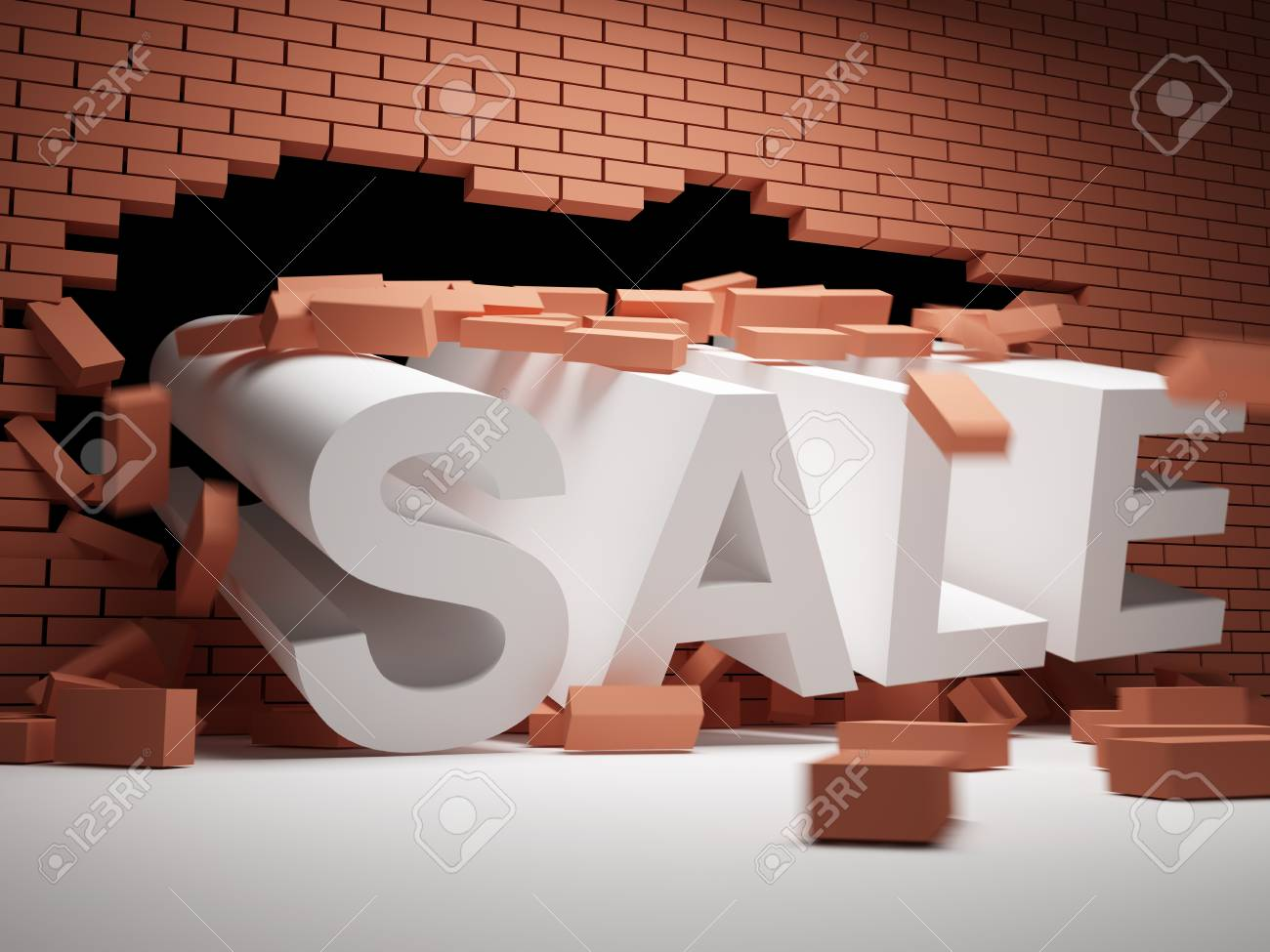 Brick wall collapsed big sales Stock Photo - 12878923