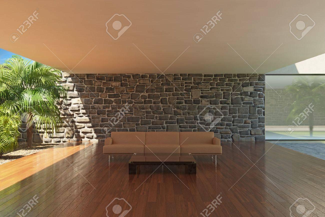foto de archivo moderna terraza con suelo de madera