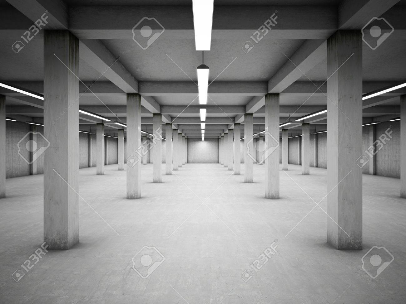 Empty underground parking area Stock Photo - 14129789